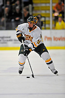1 February 2008: University of Vermont Catamounts' forward Colin Vock, a Sophomore from Plymouth, MI, in action against the University of New Hampshire Wildcats at Gutterson Fieldhouse in Burlington, Vermont. The seventh-ranked Wildcats defeated the Catamounts 5-1in front of a sellout crowd of 4,003...Mandatory Photo Credit: Ed Wolfstein Photo