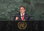 72 General Debate – 22 September <br /> <br /> Cuban foreign minister, Rodríguez Parrilla