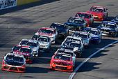 #20: Christopher Bell, Joe Gibbs Racing, Toyota Supra Rheem/Smurfit Kappa and #7: Justin Allgaier, JR Motorsports, Chevrolet Camaro BRANDT Professional Agriculture