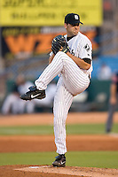 Birmingham Barons starting pitcher Jack Egbert winds up to deliver the ball to the plate versus the Jacksonville Suns at Hoover Metropolitan Stadium in Birmingham, AL, Saturday, August 19, 2006.