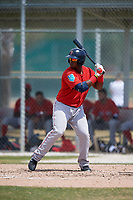 Boston Red Sox Jerry Downs (30) during a Minor League Spring Training game against the Baltimore Orioles on March 20, 2018 at Buck O'Neil Complex in Sarasota, Florida.  (Mike Janes/Four Seam Images)