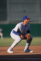 Jose Brizuela (7) of the Stockton Ports in the field at third base during a game against the Lancaster JetHawks at The Hanger on May 26, 2016 in Lancaster, California. Stockton defeated Lancaster, 16-7. (Larry Goren/Four Seam Images)