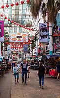 Jalan Petaling Street Market, Chinatown, Kuala Lumpur, Malaysia.