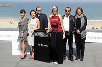 """Director Jasmila Zbanic (L) and actress Kym Vercoe (2L) posse in the photocall of the """"For those who can tell no lies"""" film presentation during the 61 San Sebastian Film Festival, in San Sebastian, Spain. September 26, 2013. (ALTERPHOTOS/Victor Blanco) <br /> San Sebastian Film Festival <br /> Foto Insidefoto"""