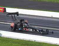 Aug 9, 2020; Clermont, Indiana, USA; NHRA top fuel driver Joe Morrison during the Indy Nationals at Lucas Oil Raceway. Mandatory Credit: Mark J. Rebilas-USA TODAY Sports