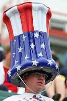 US Fan. The U.S. Women's National Team defeated Canada 1-0 in a friendly match at Marina Auto Stadium in Rochester, NY on July 19, 2009. Abby Wambach of the USWNT scored her 100th career goal in the second half..