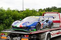 #47 Cetilar Racing Ferrari 488 GTE EVO LMGTE Am, Roberto Lacorte, Giorgio Sernagiotto, Antonio Fuoco, 24 Hours of Le Mans , Free Practice 1, Circuit des 24 Heures, Le Mans, Pays da Loire, France