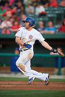 South Bend Cubs third baseman Jesse Hodges (19) at bat during a game against the Cedar Rapids Kernels on June 5, 2015 at Four Winds Field in South Bend, Indiana.  South Bend defeated Cedar Rapids 9-4.  (Mike Janes/Four Seam Images)