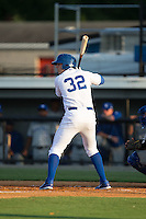 Riley King (32) of the Burlington Royals at bat against the Bluefield Blue Jays at Burlington Athletic Park on June 29, 2015 in Burlington, North Carolina.  The Royals defeated the Blue Jays 4-1. (Brian Westerholt/Four Seam Images)