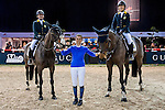 JETS riders attend Hong Kong Jockey Master Class held by Jane Richards Philipps during the Longines Hong Kong Masters on 14 February 2015, at the Asia World Expo, outskirts Hong Kong, China. Photo by Juan Flor / Power Sport Images