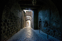 Walkway in Orvieto, Italy