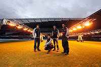 Pictured: Dan the groundsman with his team at the Liberty Stadium, south Wales. 29 December 2011