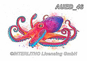 Carlie, REALISTIC ANIMALS, REALISTISCHE TIERE, ANIMALES REALISTICOS, paintings+++++,AUED46,#A#, EVERYDAY,octopus
