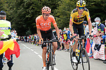 Robert Gesink (NED) Team Jumbo-Visma and Jan Hirt (CZE) CCC Team climb Col de Marie Blanque during Stage 9 of Tour de France 2020, running 153km from Pau to Laruns, France. 6th September 2020. <br /> Picture: Colin Flockton   Cyclefile<br /> All photos usage must carry mandatory copyright credit (© Cyclefile   Colin Flockton)