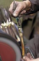 Europe/France/Auvergne/12/Aveyron/Laguiole: Coutellerie de Laguiole - Fabrication des couteaux