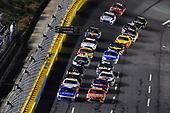#42: Kyle Larson, Chip Ganassi Racing, Chevrolet Camaro Credit One Bank and #19: Daniel Suarez, Joe Gibbs Racing, Toyota Camry ARRIS