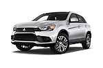 Stock pictures of low aggressive front three quarter view of 2017 Mitsubishi Outlander-Sport ES-AWC 5 Door SUV Low Aggressive