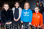 Brooke O'Sullivan, Freya Power, Nessa O'Donoghue and Anna Allen from Beaufort ready to enjoy the Cinderella Panto in the KDYS Killorglin on Sunday.