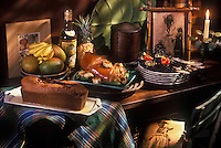 Gastronomie générale/Repas de Réveillon: Noêl Créole: Blaff d'Oursins, Jarret à la Créole, Baba au vieux Rhum