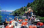 ITA, Italien, Lombardei, Comer See, Varenna: Cafe mit Seeblick    ITA, Italy, Lombardia, Lake Como, Varenna: famous holiday resort - cafe