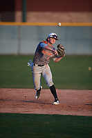 Jack Angus (4) of Eaton High School in Haslet, Texas during the Baseball Factory All-America Pre-Season Tournament, powered by Under Armour, on January 13, 2018 at Sloan Park Complex in Mesa, Arizona.  (Mike Janes/Four Seam Images)