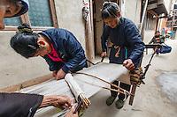 Asia,Cina,Guizhou,Zhaoxing ,Dong ethnic minority group, traditional weaving ,China minority