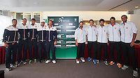 September 11, 2014, Netherlands, Amsterdam, Ziggo Dome, Davis Cup Netherlands-Croatia, Draw, both teams<br /> Photo: Tennisimages/Henk Koster