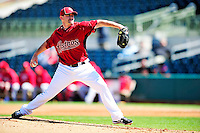 4 March 2010: Houston Astros relief pitcher Chris Sampson on the mound during the Astros' Grapefruit League Opening Day game against a Washington Nationals' split squad at Osceola County Stadium in Kissimmee, Florida. The Astros defeated the Nationals 15-5 in Spring Training action. Mandatory Credit: Ed Wolfstein Photo