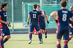 Mannheim, Germany, September 12: During the 1. Bundesliga men fieldhockey match between Mannheimer HC and Hamburger Polo Club on September 12, 2020 at Am Neckarkanal in Mannheim, Germany. Final score 2-0. (Copyright Dirk Markgraf / www.265-images.com) *** Paul Zmyslony #13 of Mannheimer HC, Gonzalo Peillat #2 of Mannheimer HC