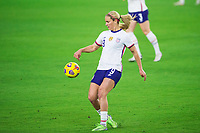ORLANDO, FL - JANUARY 18: Lindsey Horan #9 of the USWNT during a game between Colombia and USWNT at Exploria Stadium on January 18, 2021 in Orlando, Florida.