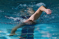 18 OCT 2011 - DEREHAM, GBR - Iain Dawson trains by himself in the swimming pool at Dereham Leisure Centre by following the lines on the bottom of the pool (PHOTO (C) NIGEL FARROW)