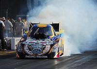 Jun. 17, 2011; Bristol, TN, USA: NHRA funny car driver Jim Head during qualifying for the Thunder Valley Nationals at Bristol Dragway. Mandatory Credit: Mark J. Rebilas-