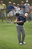 PONTE VEDRA BEACH, FL - MAY 5: Phil Michelson works on his short game, chipping onto the 11th green during his practice round on Tuesday, May 5, 2009 for the Players Championship, beginning on Thursday, at TPC Sawgrass in Ponte Vedra Beach, Florida.