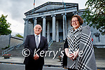 Pat Mann president of the Kerry Law Society congratulates Diane Reidy, the new state solicitor for Kerry.