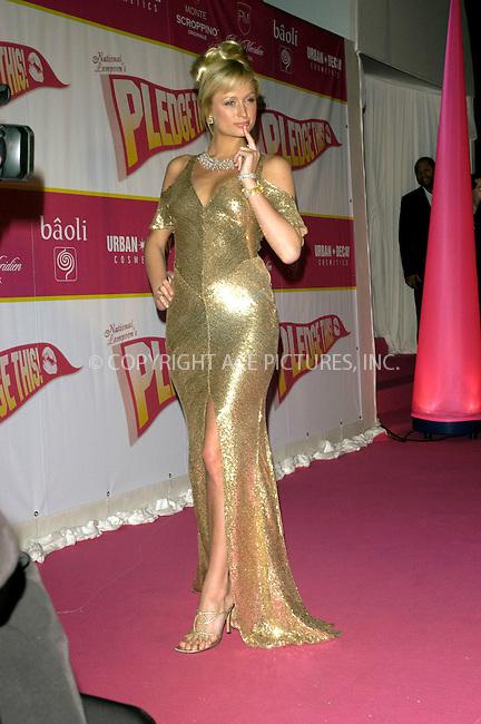 WWW.ACEPIXS.COM . . . . .  ... . . . . US SALES ONLY . . . . .....CANNES, MAY 14TH, 2005....Paris Hilton at the 'National Lampoon's Pledge This' party at the Cannes Film Festival....Please byline: FAMOUS-ACE PICTURES-M. CLEMENTS... . . . .  ....Ace Pictures, Inc:  ..Craig Ashby (212) 243-8787..e-mail: picturedesk@acepixs.com..web: http://www.acepixs.com