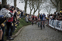 Tim Declercq (BEL/Quick Step Floors) leading the peloton <br /> <br /> 103th Ronde van Vlaanderen 2019<br /> One day race from Antwerp to Oudenaarde (BEL/270km)<br /> <br /> ©kramon