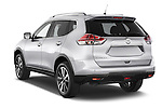 Car pictures of rear three quarter view of a 2014 Nissan X-TRAIL Tenka 5 Door SUV 2WD Angular Rear