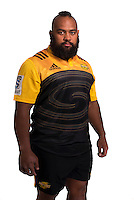 Loni Uhila. Hurricanes Super Rugby official headshots at Rugby League Park, Wellington, New Zealand on Wednesday, 6 January 2016. Photo: Dave Lintott / lintottphoto.co.nz