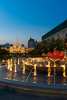Fountain And Square Near Ho Chi Minh City Hall, Vietnam