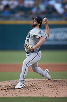 Gwinnett Stripers relief pitcher Connor Johnstone (51) in action against the Charlotte Knights at Truist Field on July 17, 2021 in Charlotte, North Carolina. (Brian Westerholt/Four Seam Images)