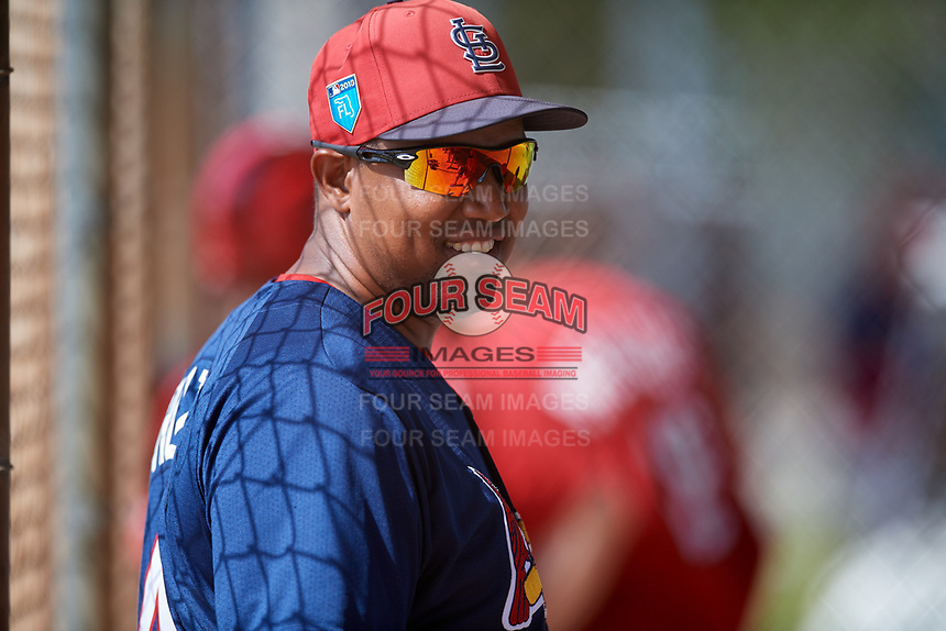 St. Louis Cardinals Dernier Orozco (41) during a Minor League Spring Training game against the Miami Marlins on March 26, 2018 at the Roger Dean Stadium Complex in Jupiter, Florida.  (Mike Janes/Four Seam Images)