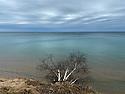 Erosion along shoire of Lake Michigan, Mar. 28, 2020.