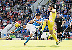St Johnstone v Hearts…17.09.16.. McDiarmid Park  SPFL<br />Graham Cummins sjot goes over the bar<br />Picture by Graeme Hart.<br />Copyright Perthshire Picture Agency<br />Tel: 01738 623350  Mobile: 07990 594431