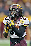 Minnesota Golden Gophers wide receiver Edward Sardinha (23) in action during the Meineke Car Care Bowl game of Texas between the Texas Tech Red Raiders and the Minnesota Golden Gophers at the Reliant Stadium in Houston, Texas. Texas defeats Minnesota 34 to 31.