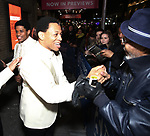 """Jeremy Pope and Derrick Baskin starring in """"Ain't Too Proud: The Life And Times Of The Temptations"""" after their first Broadway preview performance at The Imperial Theatre on February 28, 2019 in New York City."""