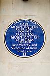 Blue Plaque. Wilton Terrace Knightsbridge London Earl Mountbatten of Burma lived here 1901- 1960