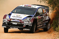 Mads Ostberg and Jonas Andersson, Ford Fiesta RS WRC QATAR M-SPORT WORLD RALY TEAM during WRC Vodafone Rally de Portugal 2013, in Algarve, Portugal on April 11, 2013 (Photo Credits: Paulo Oliveira/DPI/NortePhoto)