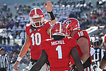 December 30, 2016: Georgia Bulldog running back Sony Michel (1) quarterback Jacob Eason (10) and Isaac Nauta celebrate after scoring a touchdown in the first quarter of the Autozone Liberty Bowl at Liberty Bowl Memorial Stadium in Memphis, Tennessee. ©Justin Manning/Eclipse Sportswire/Cal Sport Media
