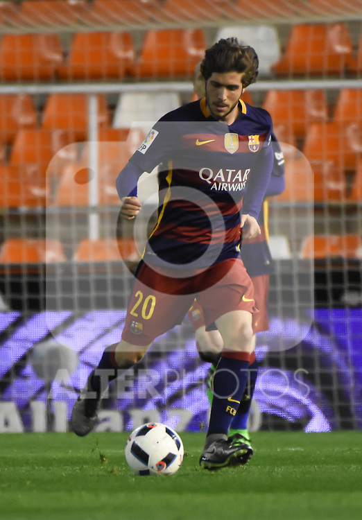FC Barcelona's  Sergi Roberto during Spanish King's Cup match. February 10, 2016. (ALTERPHOTOS/Javier Comos)