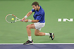 Cameron Norrie (GBR) defeated Nikoloz Basilashvili (GEO) 3-6, 6-4, 6-1, at the BNP Paribas Open being played at Indian Wells Tennis Garden in Indian Wells, California on October 17,2021: ©Karla Kinne/Tennisclix/CSM